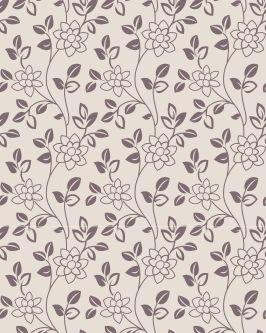 Papel de Parede Floral com flores Roxas