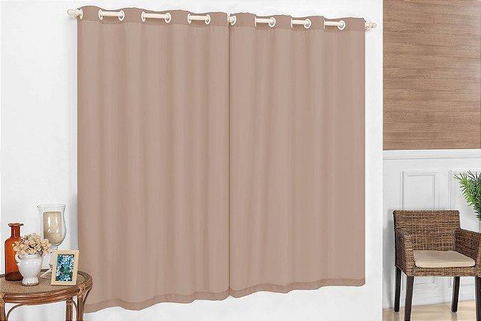 Cortina Corta Luz Varão Simples para Sala Quarto Escritório Tecido PVC /Voil