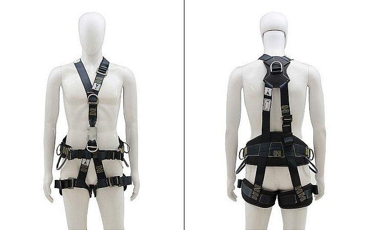 Cinto de segurança Paraquedista com 5 pontos de ancoragem em inox