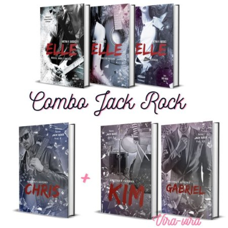 Combo Jack Rock (série completa - 5 livros + kit de marcadores) - (Depósito:145,00. Checar desconto na Shopee)