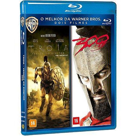 Blu-Ray Duplo  Troia Versão Do Diretor + 300