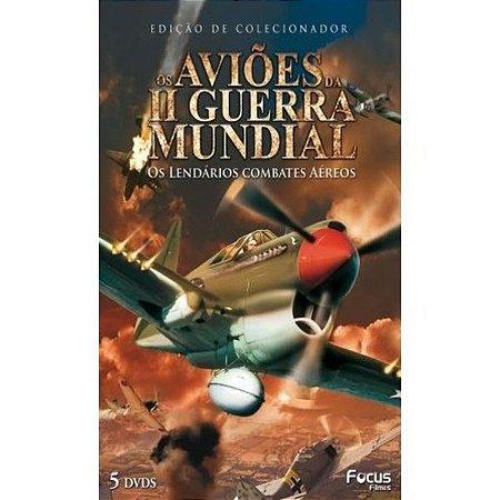Dvd Box Os Aviões Da II Guerra Mundial - Os Lendários Combates Aéreos