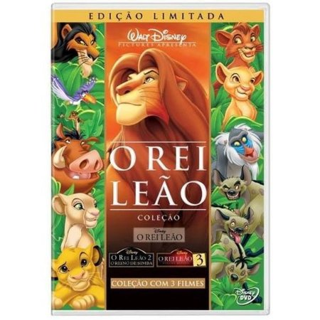 KIT DVD O Rei Leão - A Trilogia