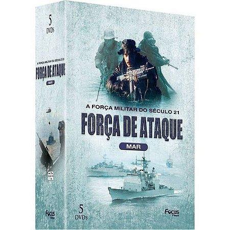 DVD Box Força de Ataque Mar A Força Militar do Século 21 - 5 DISCOS