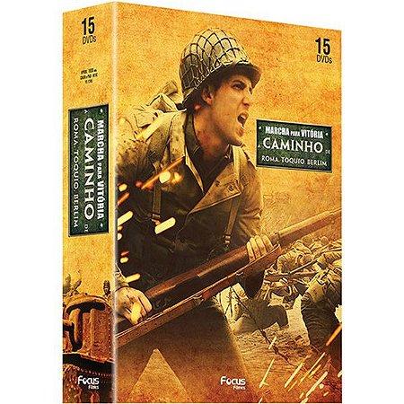 DVD Box Marcha para a Vitória: A Caminho de Berlim + A Caminho de Roma + A Caminho de Tóquio (15 DVDs)