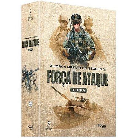 DVD Box Força De Ataque Terra - A Força Militar Do Século 21 - 5 DISCOS