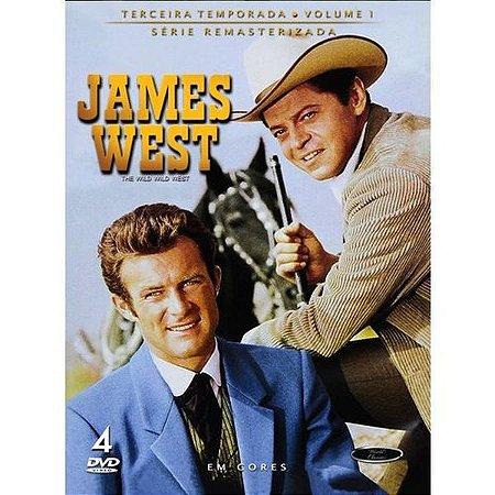 Dvd James West - Terceira Temporada Volume 1 (4 Dvds)