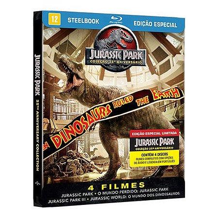 STEELBOOK BLU-RAY COLEÇÃO JURASSIC PARK 1-4