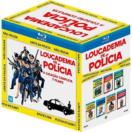 Blu-ray - Coleção Loucademia De Polícia (7 Discos)