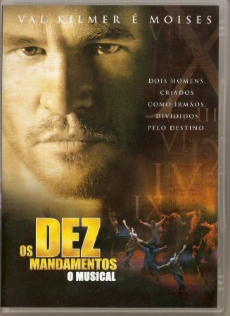 Dvd Os Dez Mandamentos Musical - Val Kilmer