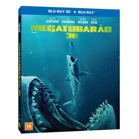Blu ray 3D + Blu ray - Megatubarão - Jason Statham