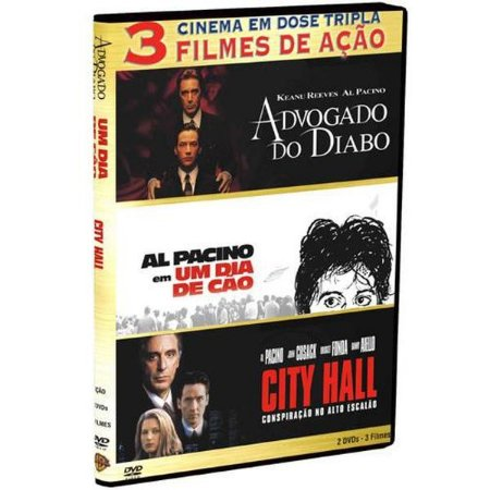 Dvd Dose Tripla - Advogado Do Diabo/ Al Pacino/ City Hall