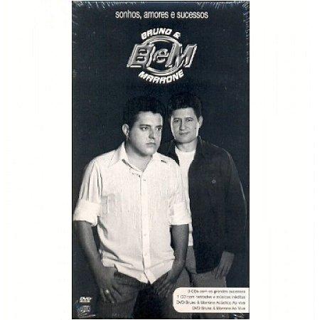 Box  Bruno e Marrone  Sonhos, Amores e Sucesso  4 CDs/2 DVDs