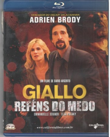 Blu ray Giallo  Reféns do Medo  Adrien Brody