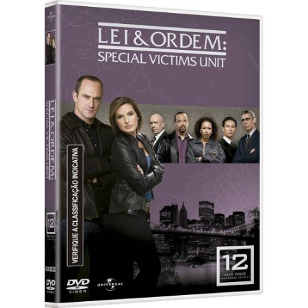 DVD Lei & Ordem - Special Victims Unit - 12 TEMP  - 5 Discos