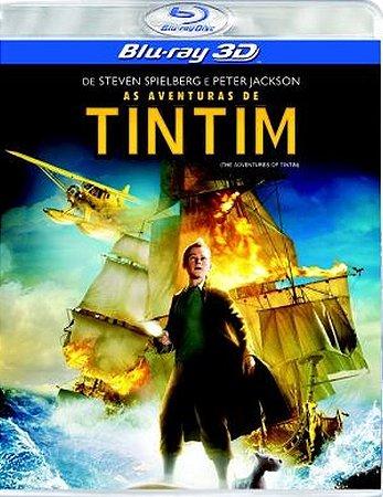 Blu ray 3D - As Aventuras de Tintim - Steven Spielberg