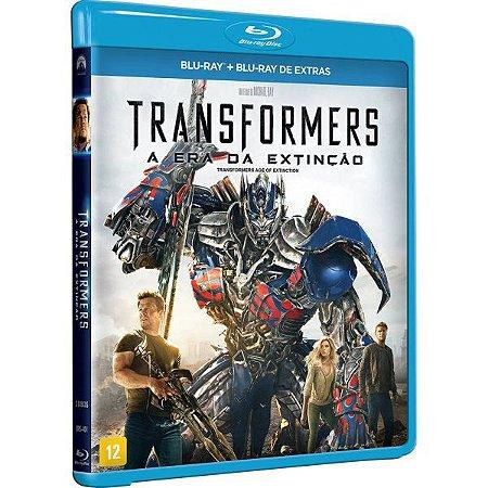 Blu ray + blu Ray de extras Transformers - A Era da Extinção