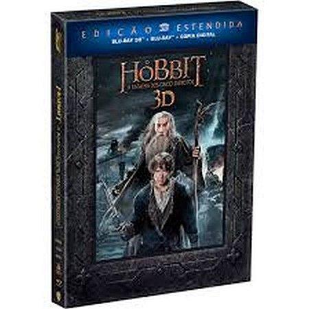 Blu-Ray 3D + Blu-Ray O Hobbit A Batalha dos Cinco Exércitos Ed Estendida