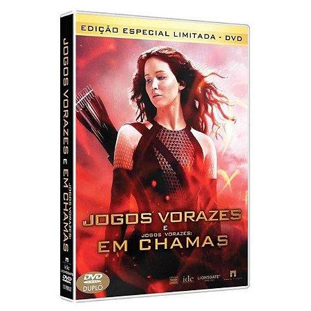 DVD DUPLO JOGOS VORAZES + JOGOS VORAZES -  EM CHAMAS