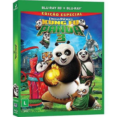 Blu-Ray 2D + Blu-Ray 3D - Kung Fu Panda 3