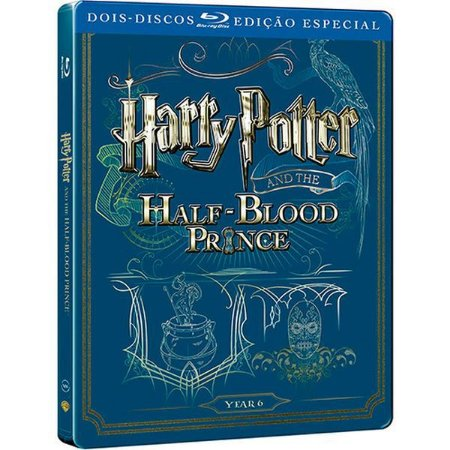 Steelbook Blu-Ray Duplo Harry Potter E O Enigma Do Príncipe