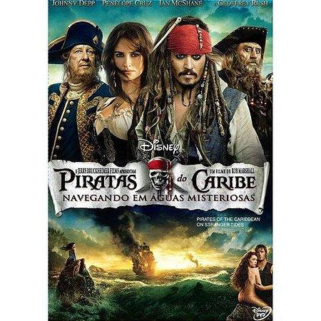 DVD Piratas Do Caribe Navegando Em Águas Misteriosas