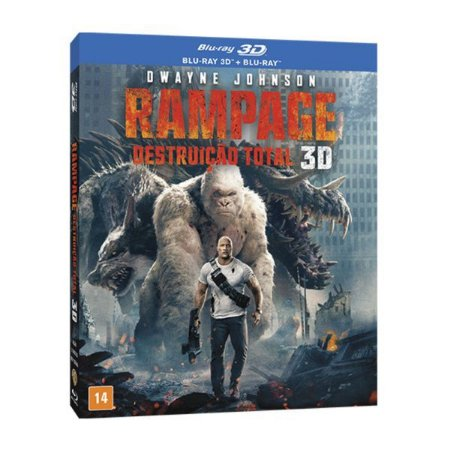 Blu-Ray + Blu-Ray 3D - Rampage: Destruição Total