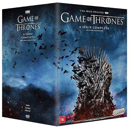 DVD - Game Of Thrones - A Série Completa - 39 Discos