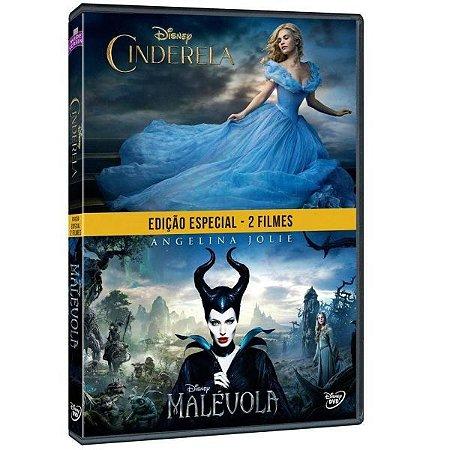 DVD Duplo Cinderela - Malevola