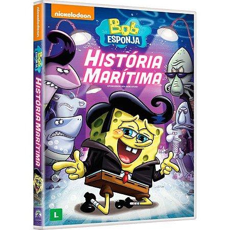 DVD Bob Esponja Calça Quadrada - Historia Maritima