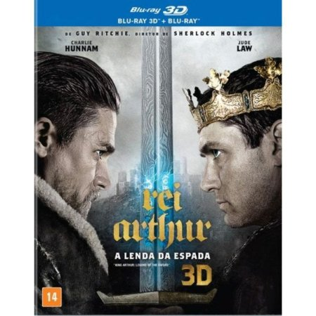 Blu-Ray 3D + Blu-Ray Rei Arthur: A Lenda Da Espada