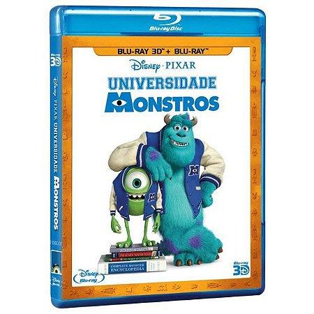 Blu-Ray 3D + Blu-Ray - Universidade Monstros