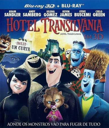Blu-ray - Hotel Transilvânia (3D + 2D) - Com luva