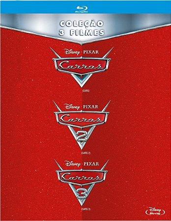 Blu-Ray Carros - Coleção 3 Filmes