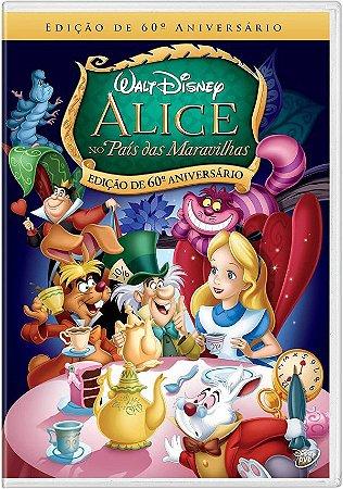 Dvd - Alice No País Das Maravilhas - Edição De 60 Anos