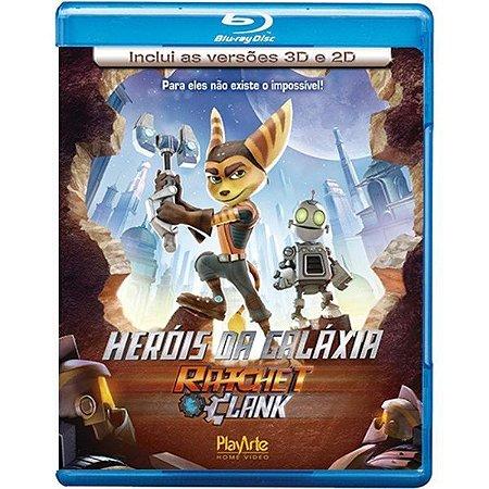 Blu-Ray + Blu-Ray 3d - Heróis Da Galáxia - Ratched Clank