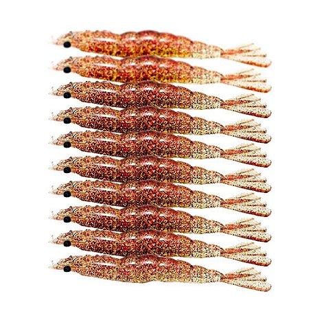 10 Isca artificial Camarão JET Shrimp Nihon 8,7cm CAMPARI
