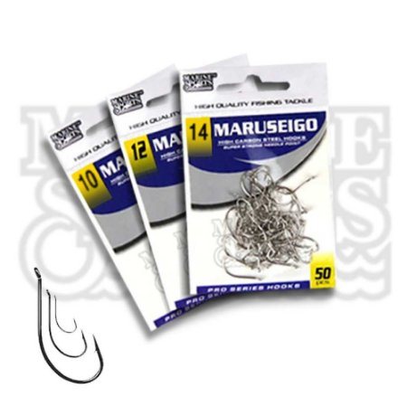 150 Anzol Marine Sports Maruseigo Nickel - Nr 10, 12 e 14
