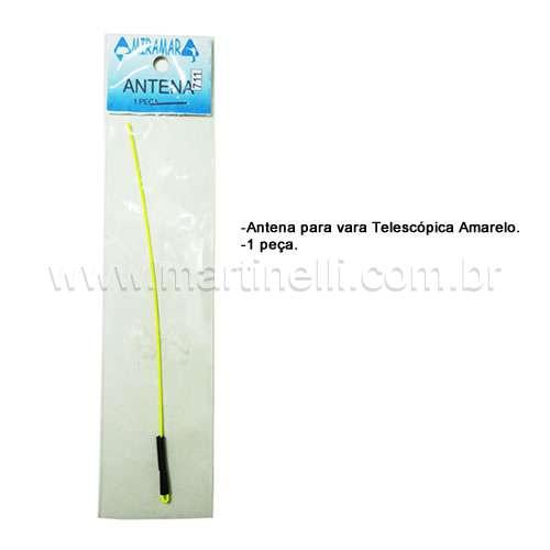 Antena para Vara Telescópica Amarelo (1peça)