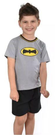 Pijama Infantil Filho Batman Curto Verão