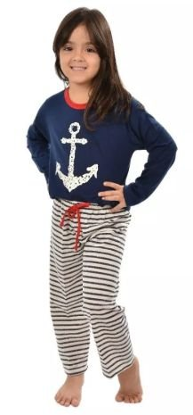 Pijama Âncora Longo Infantil Inverno Feminino