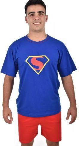 Pijama Curto Adulto Pai Super Homem