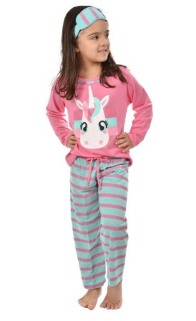Pijama Longo Infantil Filha Unicórnio Inverno Feminino