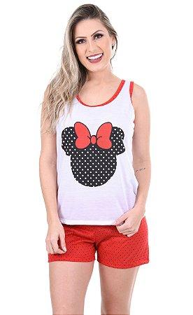 Pijama Curto Adulto Minnie Feminino Verão 101