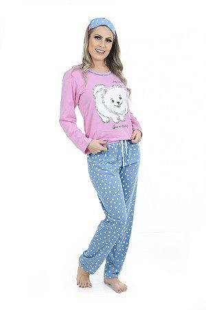 Pijama Longo Cachorrinho Feminino