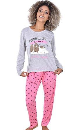 Pijama Longo Bulldog Feminino Adulto
