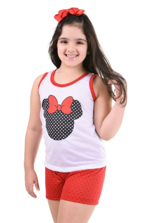 Pijama Curto infantil Minnie Feminino Verão 131