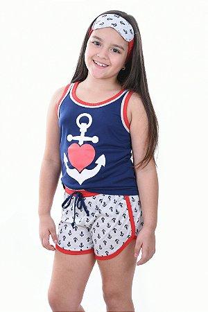 Baby doll Marinheira infantil