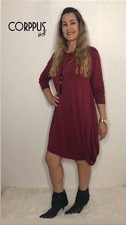 Vestido Fashion Vinho