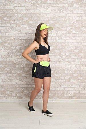 Conjunto Fitness Preto e Verde Limão